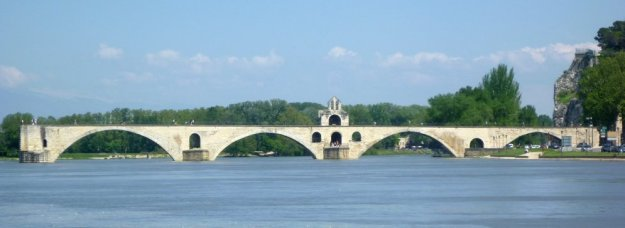 Our Couchsurfing hosts explained that the dancing was under not on the Pont d'Avignon.