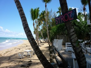 A beach bar at Las Terrenas in the Dominican Republic became our Meetup emblem