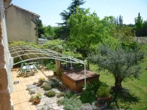 The view from our balcony in Provence