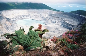 View into the crater of Poás Volcano
