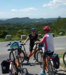 Biking the hills at Les Baux-de-Provence, France