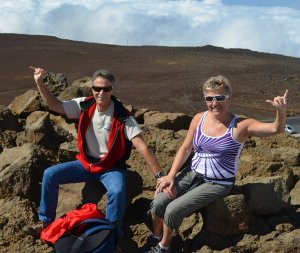 Working as a team again - but still atop a volcano!