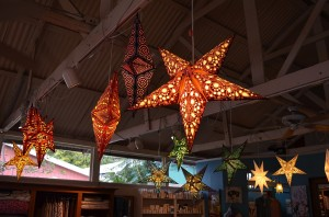 Christmas in Hawaii:  stars in the gift shop.
