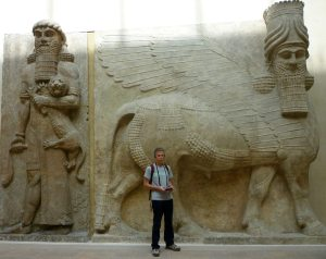 The transcendence of a different era.  Assyrian human-headed winged lion (lamassu), 883--859 BC (Louvre)