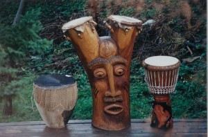 A Tree Drum - photo credit, Drumming & Health