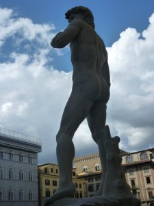One of many copies of Michelangelo's work in Florence