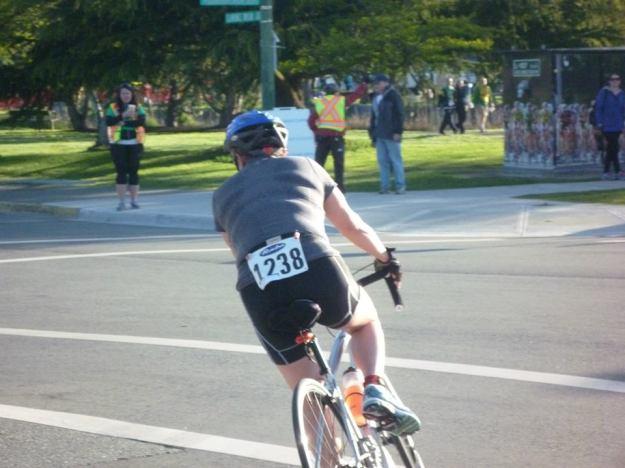 Half-way turn on the cycle leg