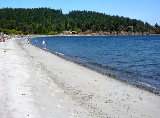 The beach at Sandwell Park on Gabriola Island, British Columbia.