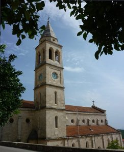 A small-town church on Korčula