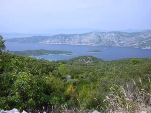 Close call.  Not far to the Pelješac Peninsula on the mainland.