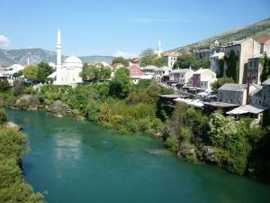 Mostar from the Bridge. A war zone not so long ago.