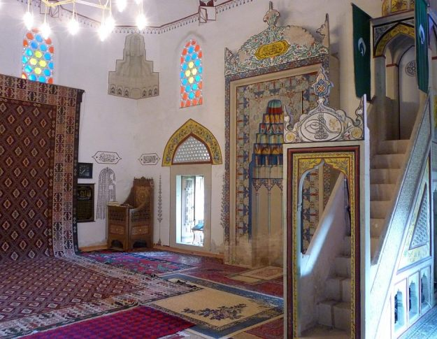 A quiet moment in one of the mosques in Mostar