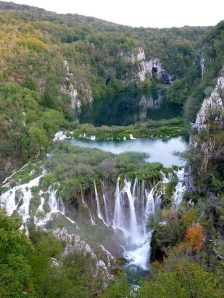 Some of the falls at Plitvice Lakes