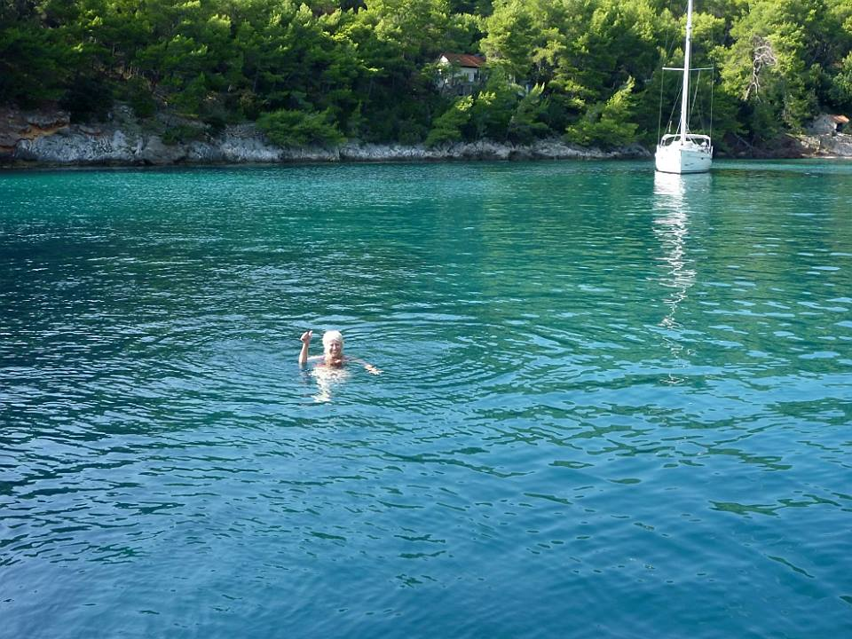 The water's great at Prigradica on Korčula