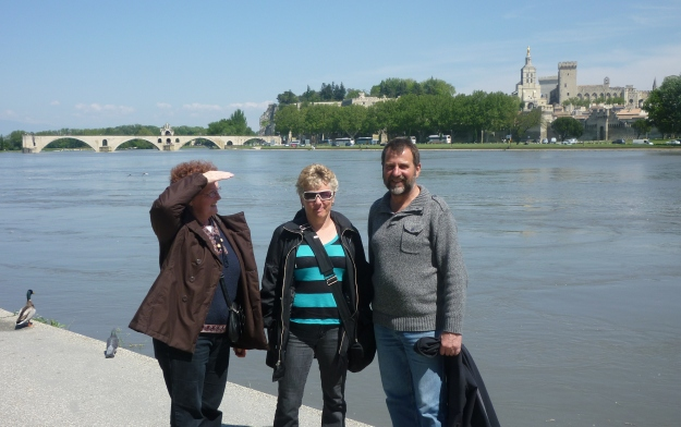 Our delightful Couchsurfing hosts showed us all around Avignon in Provence, with lots of time for discussion.