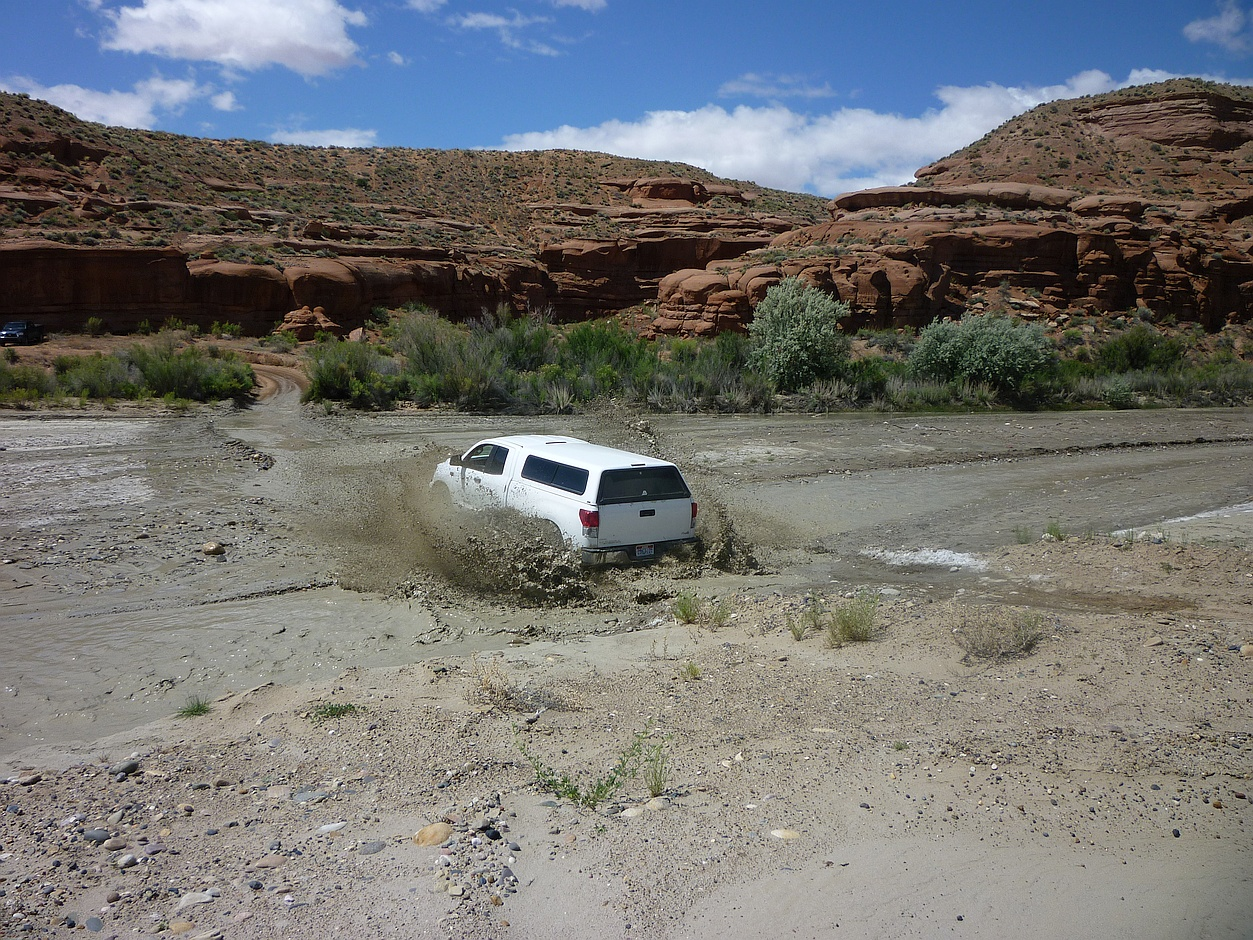 Fording Wahweap Wash