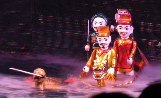 Water puppets in Hanoi.  (Photo by Rob Mudie)