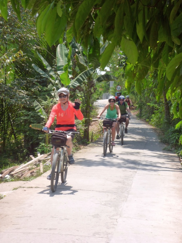 Even with colour, the Mekong Delta trails presented challenges in following.